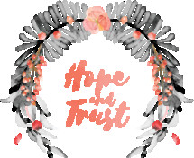 Hope and Trust Watercolor Wreath