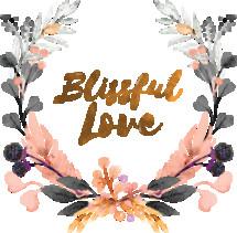 Blissful Love Watercolor Wreath