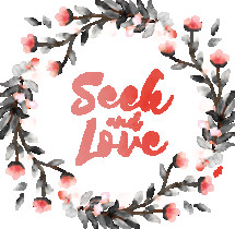 Seek and Love Watercolor Wreath