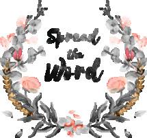 Spread the Word Watercolor Wreath