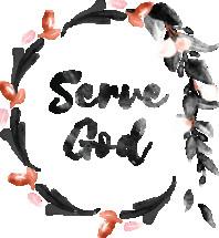 Serve God Watercolor Wreath