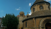 The very unusual Round Church - Holy Sepulcher - a medieval Christian sanctuary in Cambridge, England