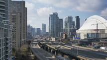 The Gardiner Expressway and the Rogers Center Toronto