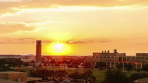 Timelapse of sunset over Albritton Bell Tower on the Texas A&M University campus.