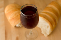 communion bread and wine