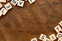 boarder of scrabble letters