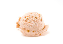 scoop of butterscotch ice cream