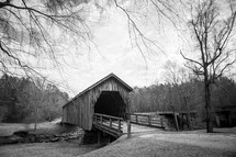 a rural covered bridge