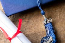 graduation cap and diploma 2019