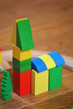 church out of building blocks