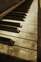 keys of an old piano