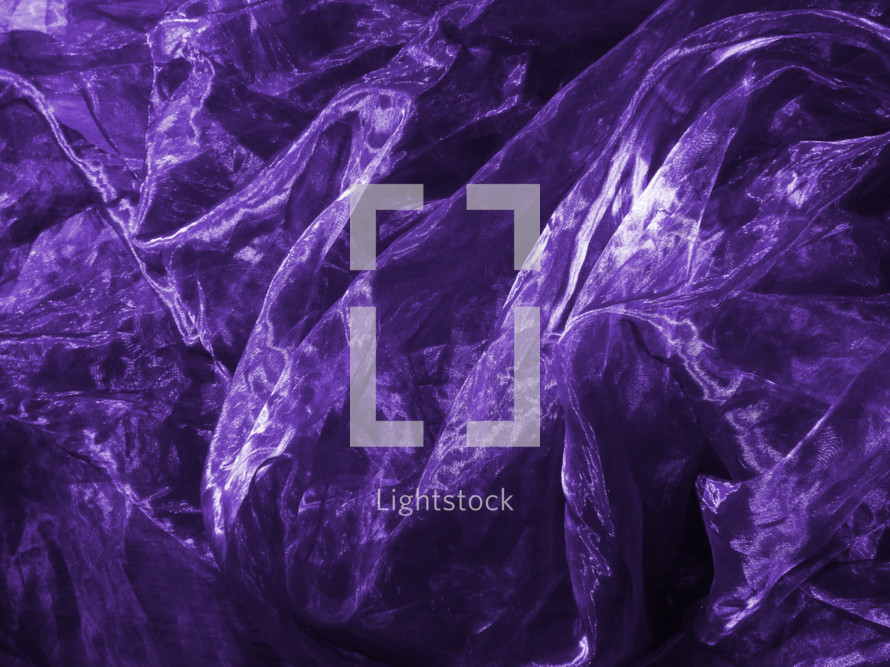 satin in the purple color of Lent,