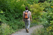 Man walking at a path asking for God's lead.