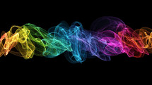 rainbow colored smoke