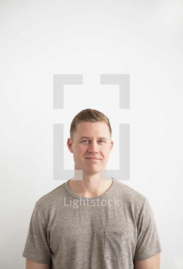 man with a smirk