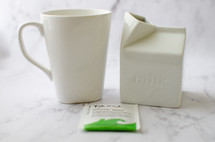 milk and tea