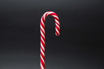 candy cane on a gray background