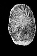 A white fingerprint