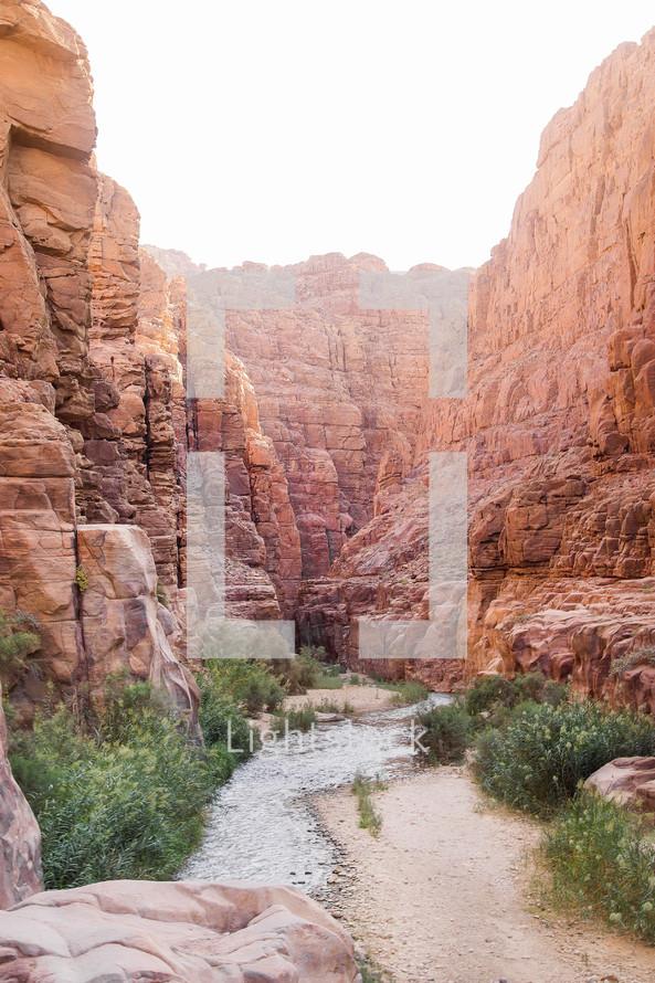 river in a Canyon , in Jordan