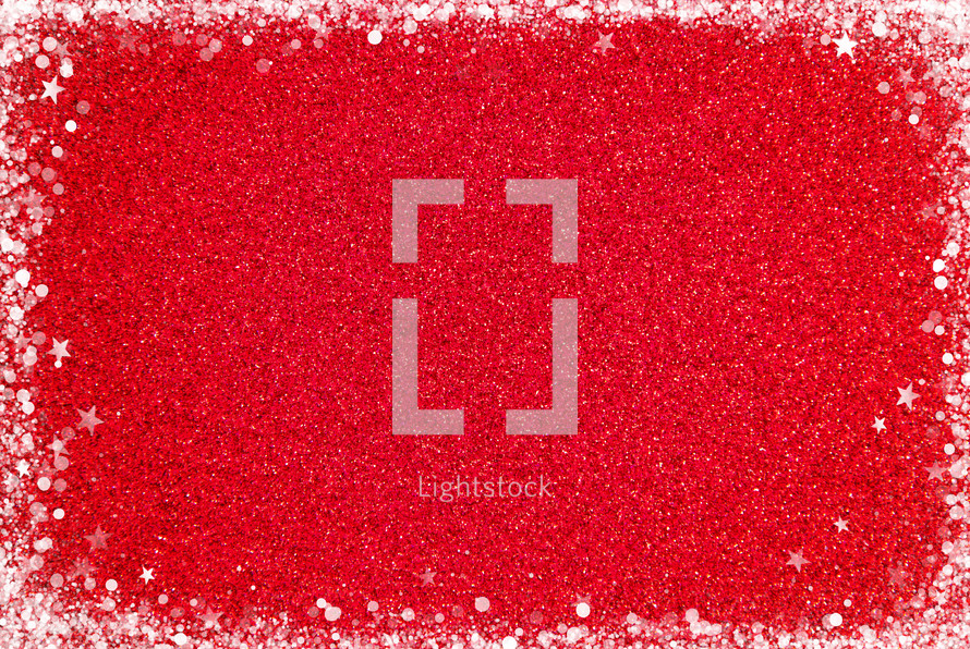 red Glitter Background with stars