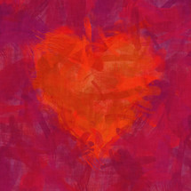 red smudged heart
