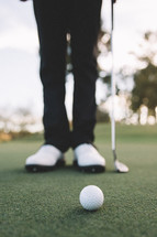 golfer on a putting green