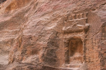 A niche on a wall in Petra