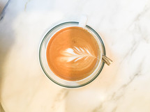 Latte on a Marble Table
