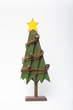 wooden Christmas tree decoration