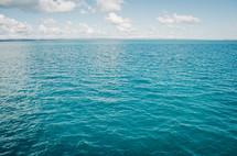 a clear blue ocean vista