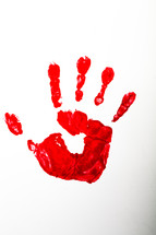 The handprint of the risen Christ