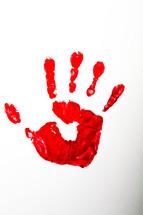 The handprint of the risen Christ