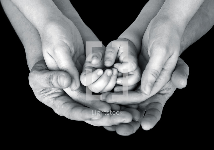 hands of a family