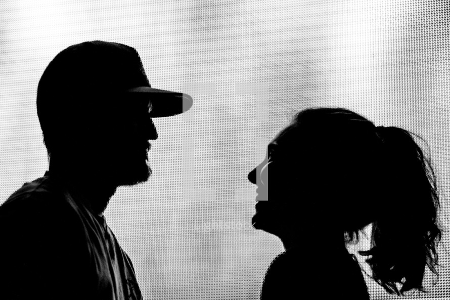 silhouette of a man and woman