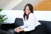 posing businesswoman