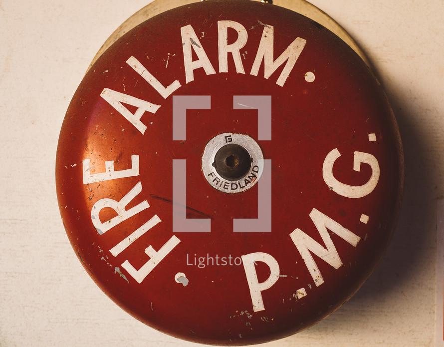 an old fire alarm