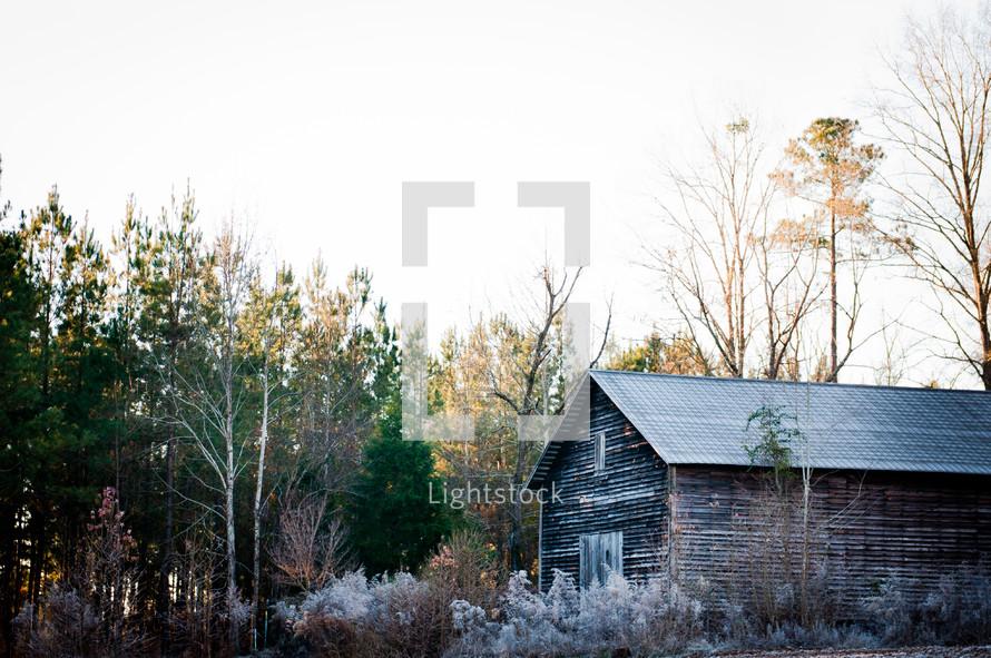 An old isolated barn.
