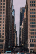traffic on the downtown streets of Chicago