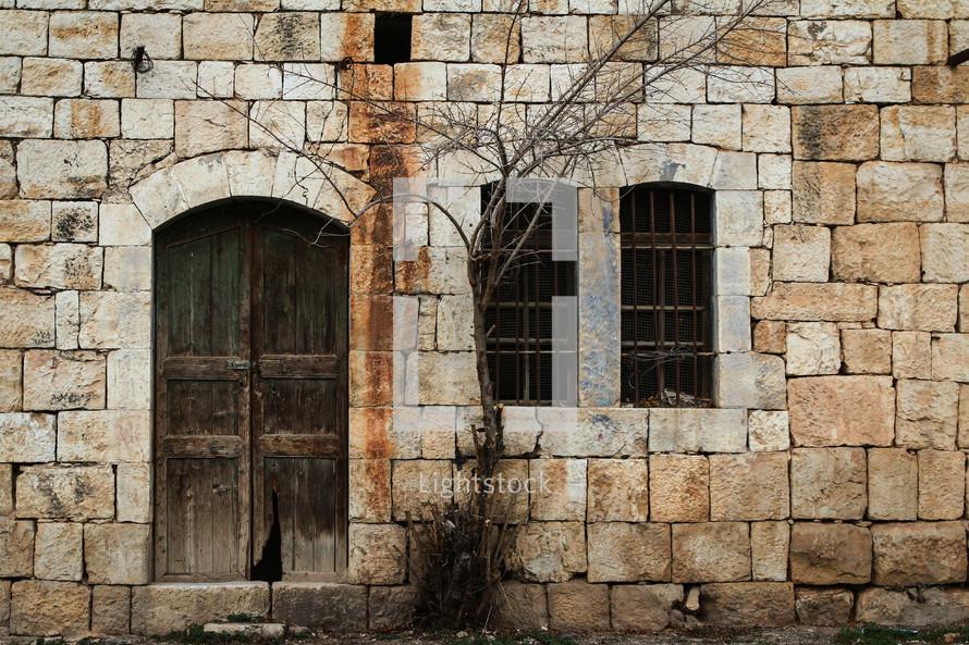 old stone building in Jordan