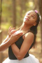 a teenage girl ballerina