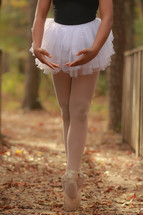 a teenage girl ballerina