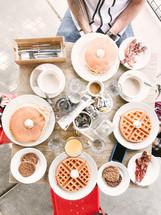 breakfast table overhead