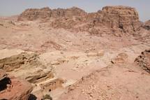 desert mountains in Petra, Jordan