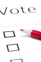 blank ballot