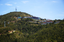 homes on a mountainside in St Thomas
