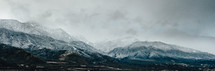 snow capped mountains landscape