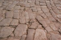 Cobblestone path in Petra