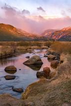 calm stream in a valley