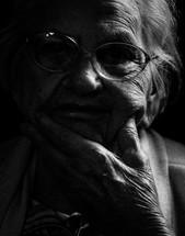 face of an elderly woman