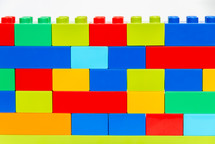 colorful building block wall